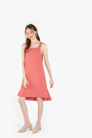 Spirited Strap Slip Dress (Dusty Rose)