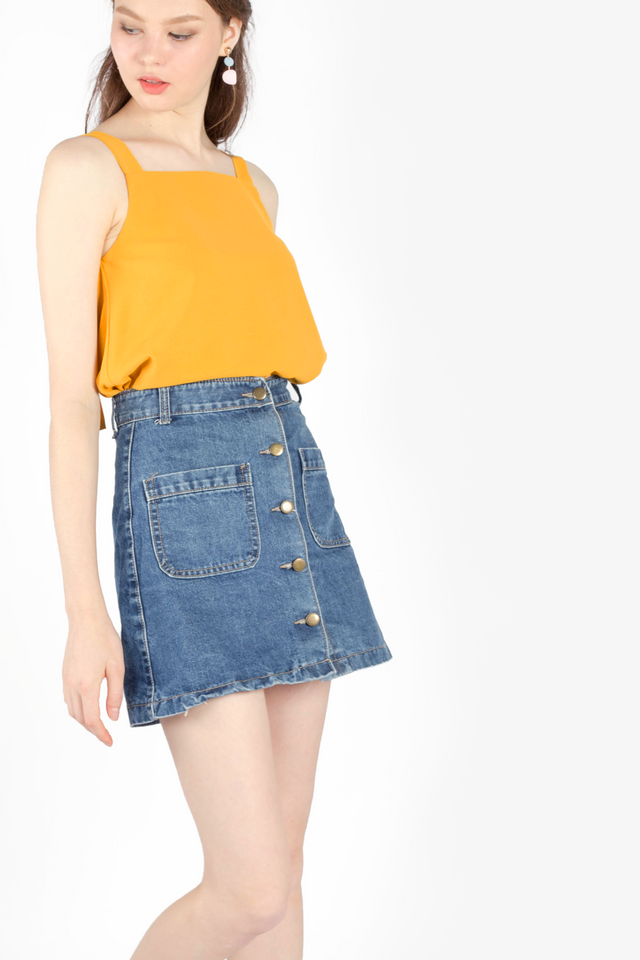 Spirited Strap Top (Mustard) - Clearance