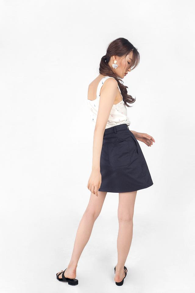 Yu Skirt (Navy)