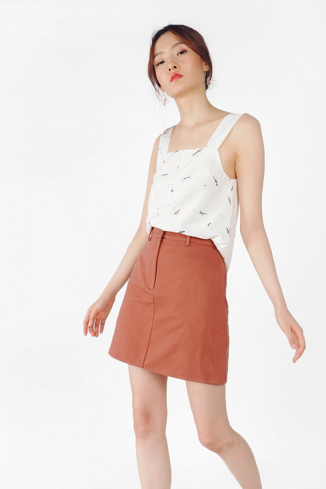 Yu Skirt (Brick) - Small (Last few)