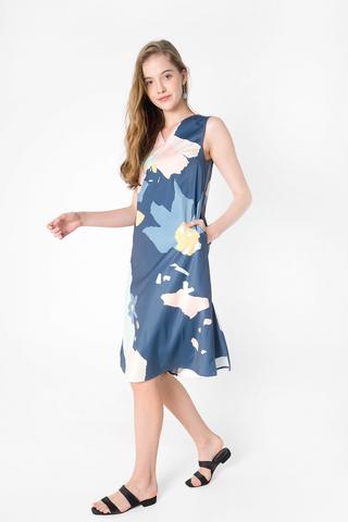 Petal Midi Dress (Teal Blue)