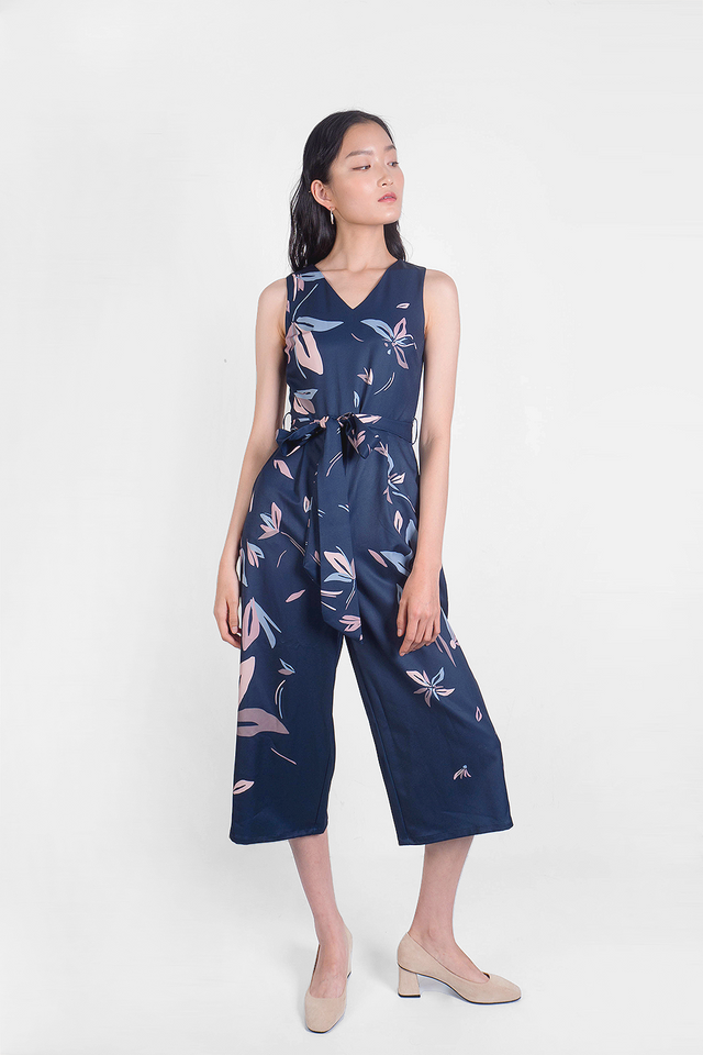 Windflower Jumpsuit (Navy) - Small