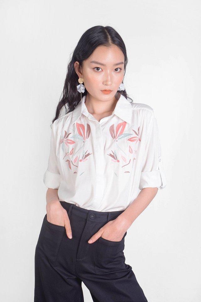 Windflower Embroidery Shirt