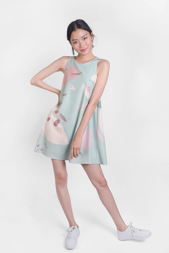 Peach Swing Dress (Laurel)