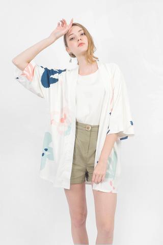 Rosette Kimono (White)