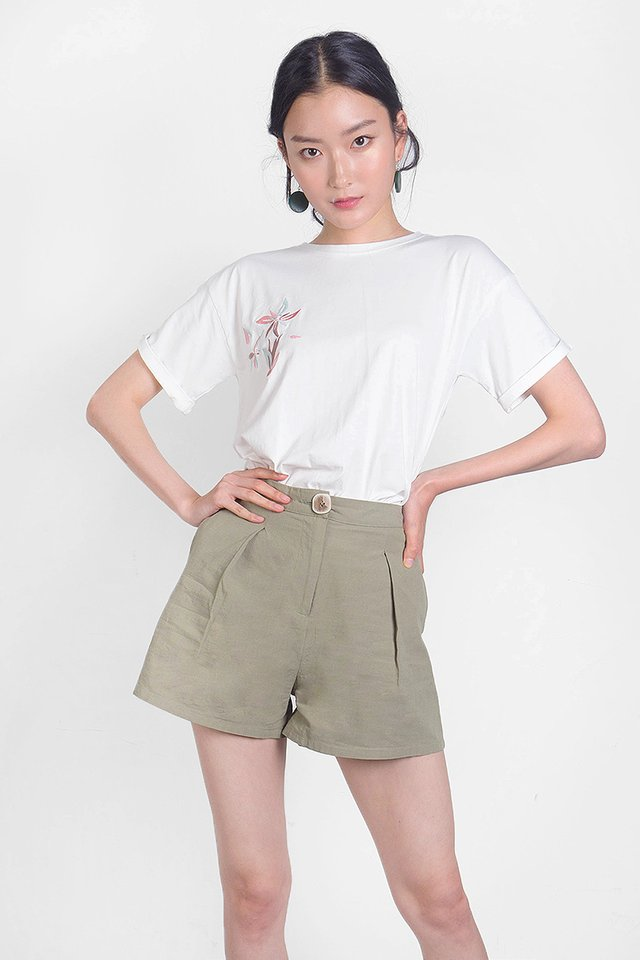 Klin Buttoned Shorts (Olive)