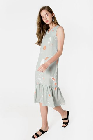 Foliage Dropwaist Midi (Laurel)