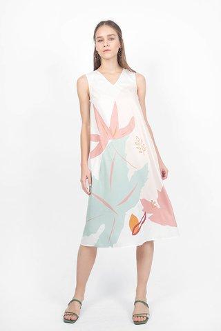 Maple V-neck Tent Dress (Jade Ivory)