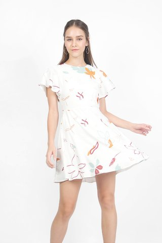 Autumn Swing Dress (White)