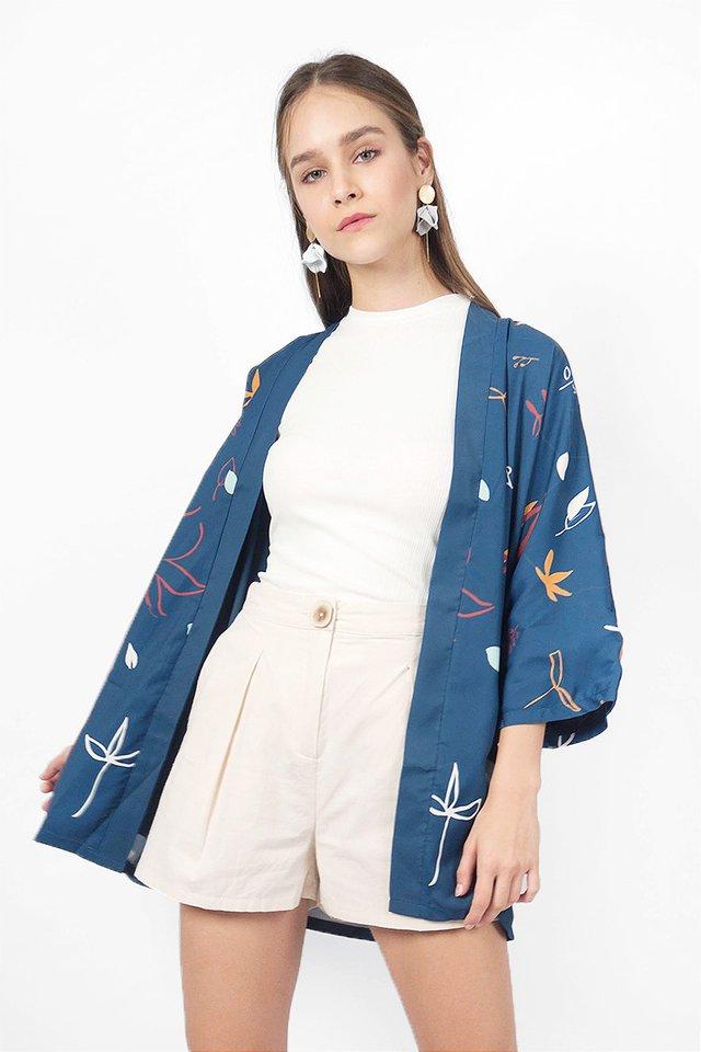 Autumn Kimono (Aegean Blue)