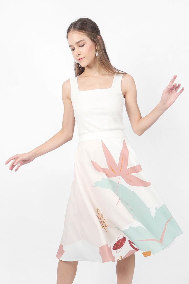 Maple MIdi Skirt (Jade Ivory)