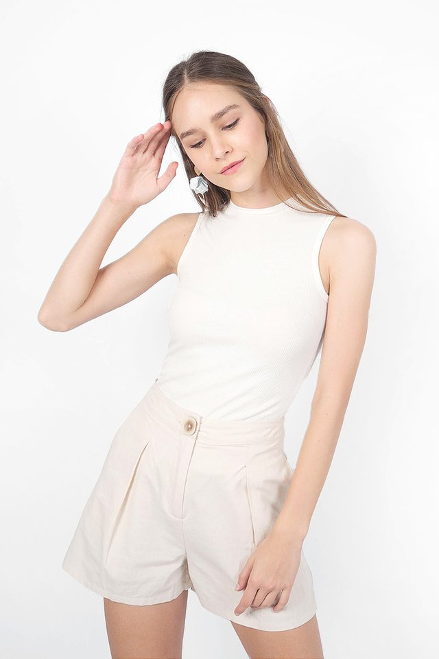 Gin Ribbed Top (White)