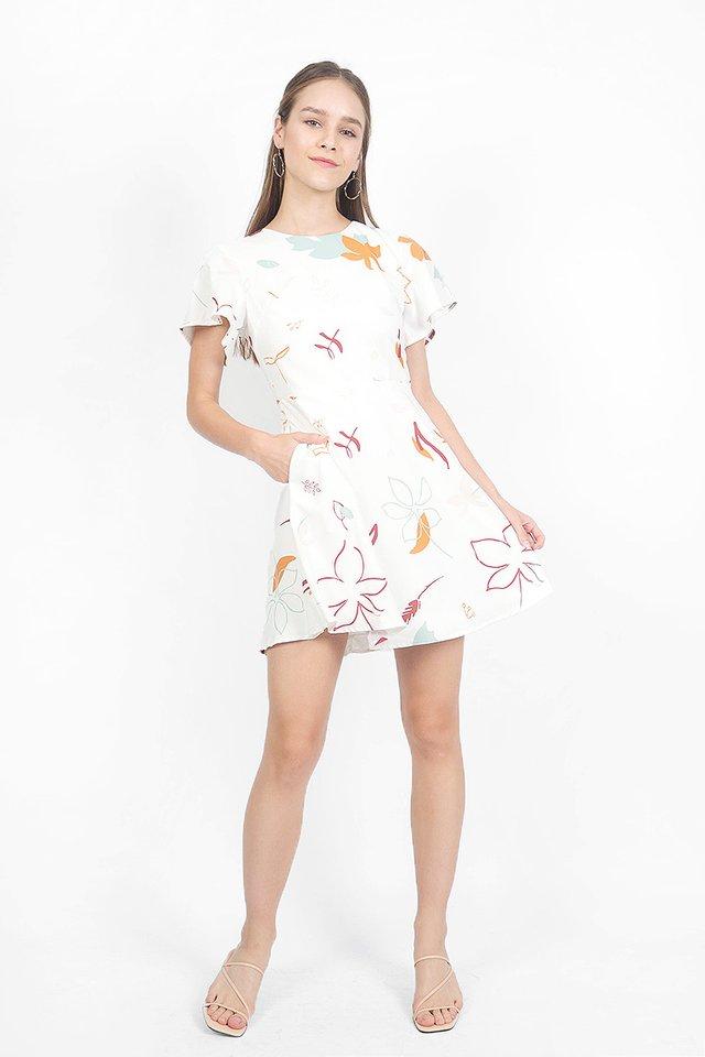 Autumn Swing Dress (White)