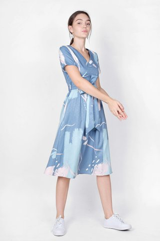 Inspire Midi Dress (Blue)