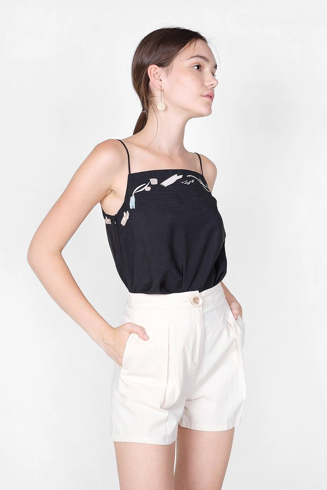 Inspire Embroidery Cami Top (Black)