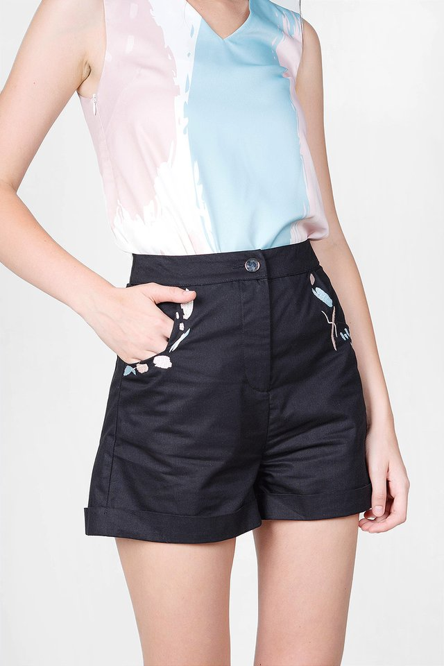 Inspire Embroidery Shorts (Black)