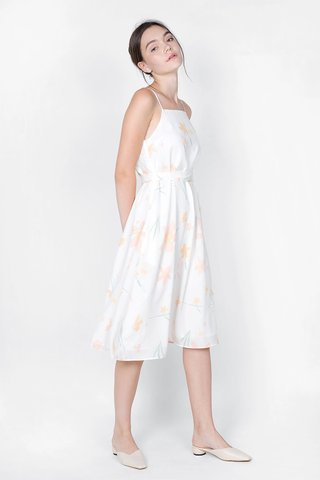 Daffodils Midi Tent Dress (White)
