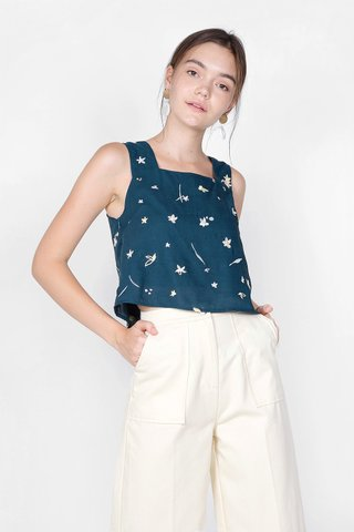 Daffodils Square Top (Teal)