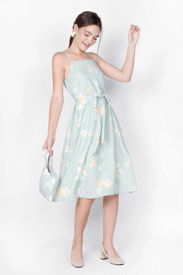 Daffodils Midi Tent Dress (Laurel)