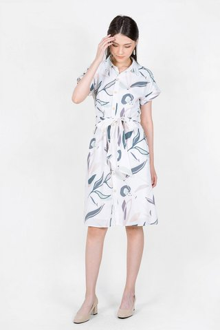 Lush Shirt Dress (Solace Blue)