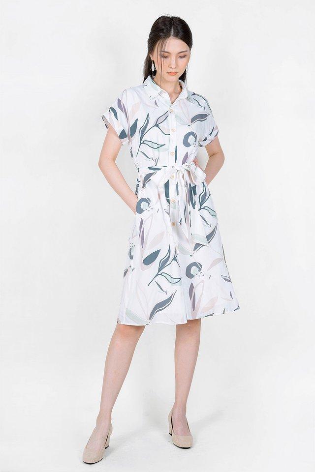 Lush Shirt Dress (Solace Blue)