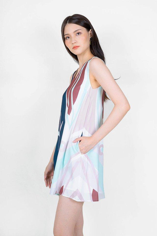Lush V Shift Dress (Solace Blue)