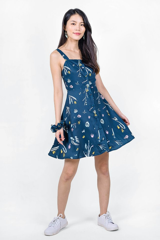 Garden Swing Dress (Midnight)