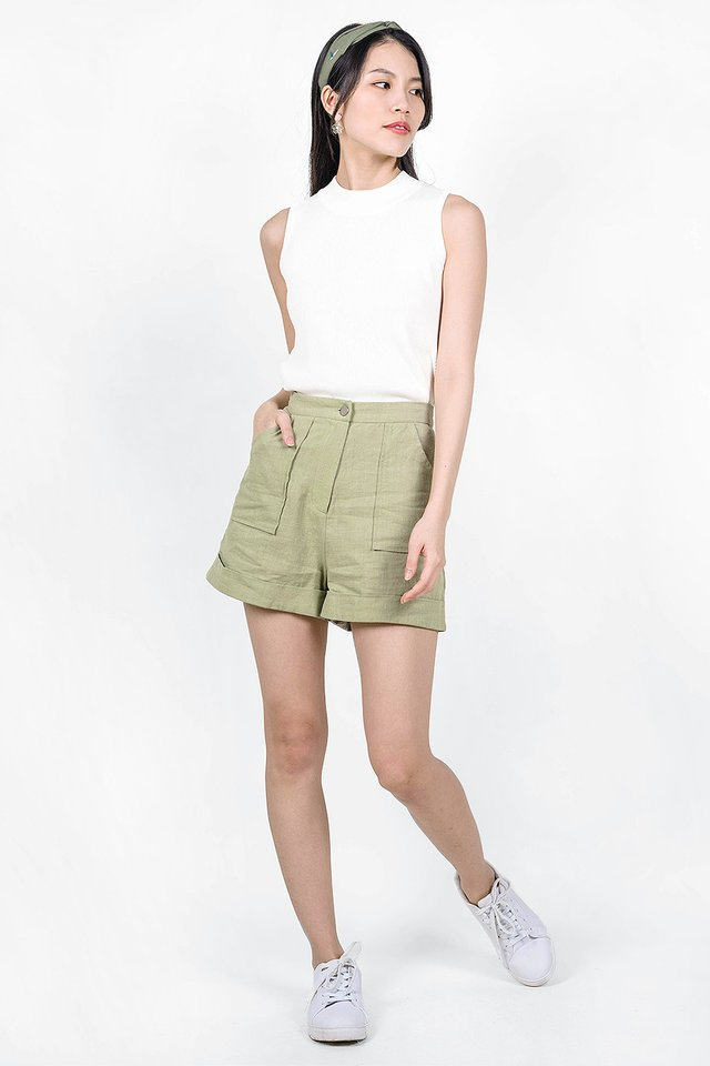 Claude Pocket Shorts (Tea Green)