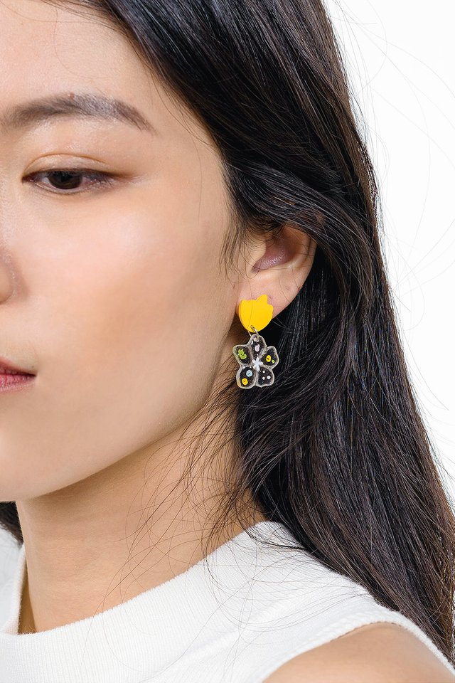 Garden Earrings (Nasturtium)